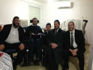 Some of my chevra across the ocean - The plan was to go into Yerushalayim to my Yeshiva Chofetz Chaim. There was a reunion planned. Due to the weather, I couldn't go there