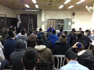 Speaking at Yeshiva Chofetz Chaim