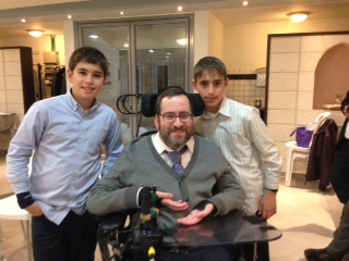 With my twin nephews. I missed their Bar Mitzvah just a few months a go - I didn't think I could go thus trip!
